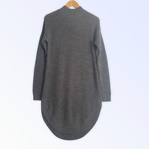 Timo Weiland Mock Neck Curved Hem Sweater